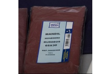 Mandil color con monedero 65x30 cms.