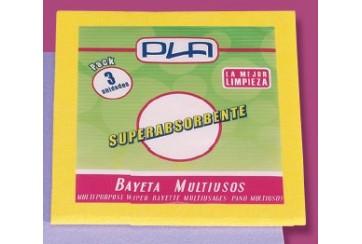 Pack de 12 Bayetas amarillas cortadas 38x40 cms.