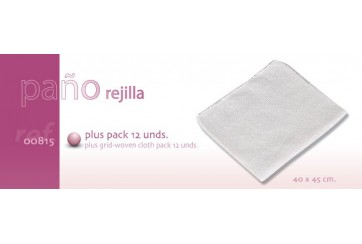 Pack de 12 Paños rejilla blanca 40x40 cms.