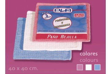 Pack de 12 Paños rejilla color 40x40 cms.
