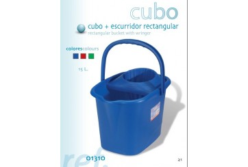 Cubo rectangular con escurridor