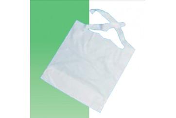 Caja de 500 Baberos con bolsillo 36x65 cms. papel plastificado e