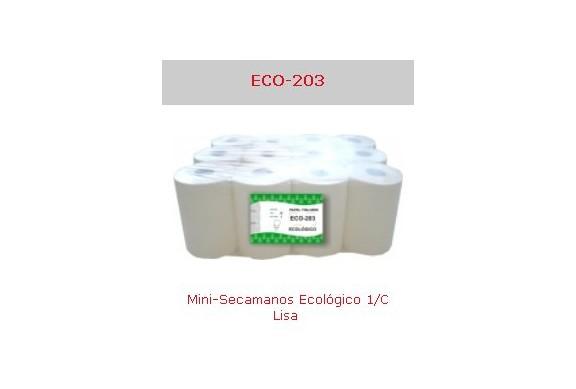 Saco de 12 Rollos minisecamanos 1 capa Eco Ref.Eco-203
