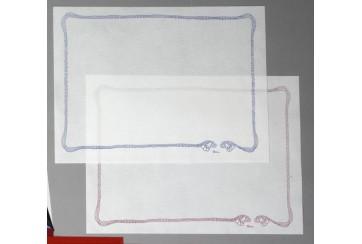 Caja de 400 Manteles tissue-seco Brisacel 30x40 blancos con orla