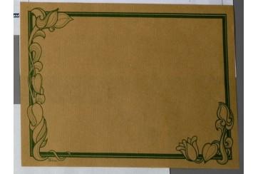 Caja de 1000 Manteles kraft natural 60 grs. 30x40 cms.sin orla