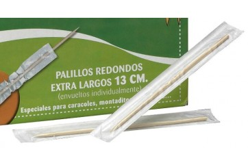 Pack de 2 Estuches de 500 Palillos enfundados transparentes 13 c