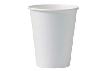 Caja de 1000 Vasos de cartón para b.calientes 18 cl. blancos