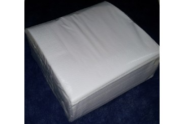 Servilletas tissue 2 capas 40x40 cms. blancas