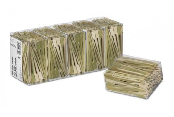 Pack de 5 paquetes de 200 Pinchos bambú de 10,5 cms.