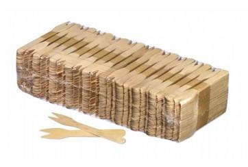 Paquete de 1000 Tenedores madera 12 cms.