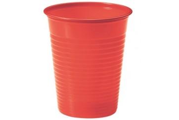 Pack de 12 paquetes de 24 Vasos plástico 200 c.c. Rojos