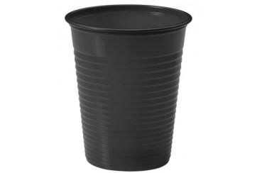 Pack de 12 paquetes de 24 Vasos plástico 200 c.c. Negros