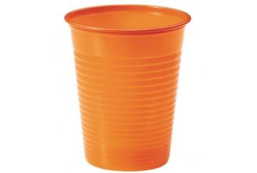 Pack de 12 paquetes de 24 Vasos plástico 200 c.c. Naranjas