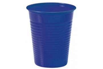 Pack de 12 paquetes de 24 Vasos plástico 200 c.c. Azules