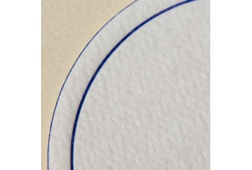 500 Posavasos tissue-seco Brisacel 80 grs. 9 cms. redondos orla azul