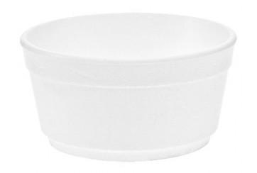 Caja de 500 Tarrinas porex blancas 350 c.c.
