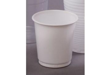 Caja de 4800 Vasos plástico blancos 10 cl.
