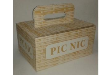 """Paquete de 30 Cajas de cartón microcanal para picnic """"Mimbre"""""""