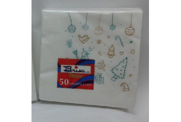 Servilletas tissue 2 capas 40x40 cms. Brisa® Paq.50 Navidad_01