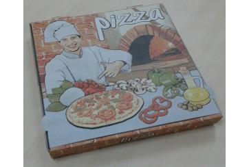 Paquete de 100 Cajas pizza microcanal 33x33+3,5 cms.