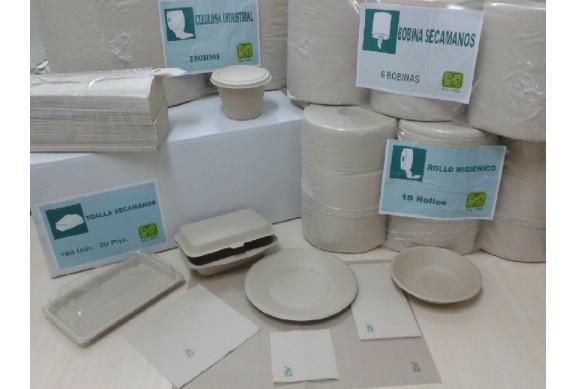 Caja de 2400 Servilletas tissue 2 capas 40x40 cms. Bio-Eco