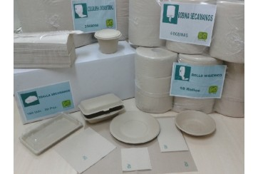 Caja de 2400 Servilletas tissue 2c 40x40 cms. Bio-Eco Pl.1/8