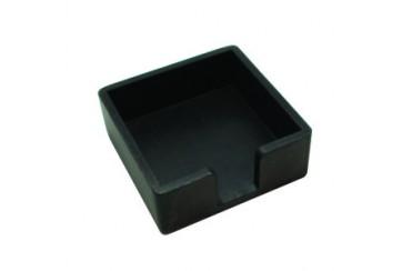 Servilletero wengue 10,5x10,5x4,5 cms. * Ref.860