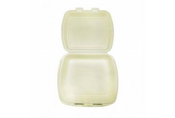 Caja de 250 Estuches foam portamenú 1 compartimento 24x21x7 cms.