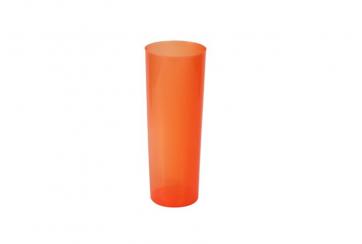 Caja de 500 Vasos tubo polipropileno irrompibles 330 cc naranjas