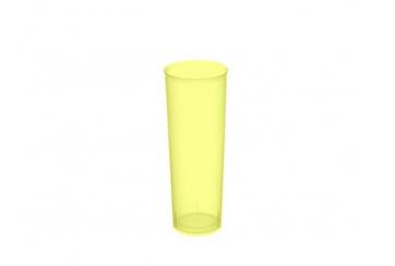 Caja de 500 Vasos tubo polipropileno irrompibles 330 cc amarillos