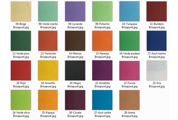 1800 Servilletas Brisapunt 40x40 cms. colores (XX=Código color)