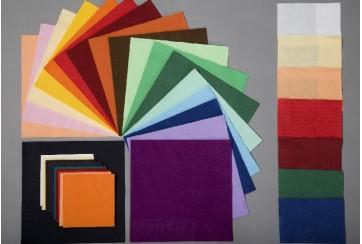 Servilletas tissue 2 capas 40x40 cms. colores suaves