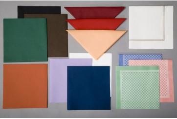 Servilletas tissue-seco Brisacel 40x40 cms. colores Plegado 1/8