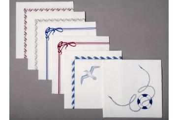 Servilletas punta-punta Brisapunt 40x40 cms. blancas con orla