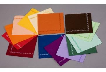 Servilletas punta-punta Brisapunt 40x40 cms. colores con orla