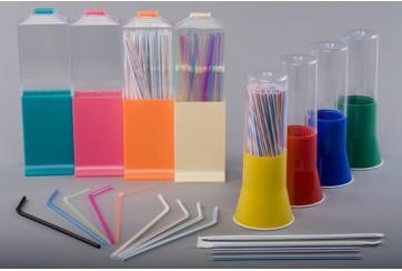 Portacanutillos de plástico largo