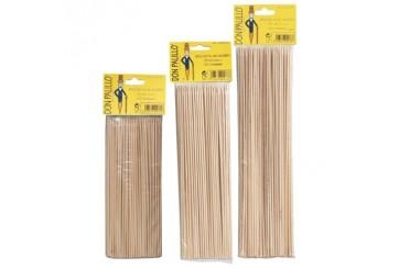 Pack de 10 paquetes de 100 Brochetas bambú de 25 cms.