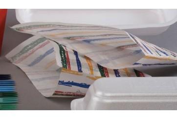 Paquete de 100 Cucuruchos pergamino patatas fritas 17x17 cm.