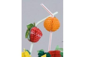 Estuche de 144 Canutillos art. 24 cms. con fruta REF. S0067