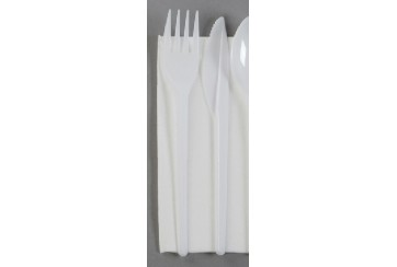 Caja de 500 Juegos 2 cubiertos plástico (tenedor+cuchillo)