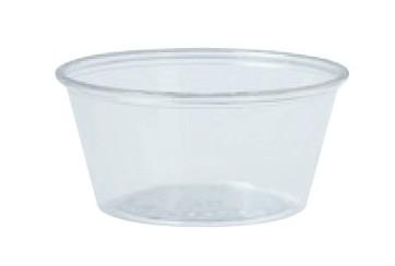 Caja de 2500 Tarrinas plástico transparentes 60 c.c.