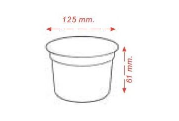 Caja de 500 Tarrinas plástico blancas 500 c.c.