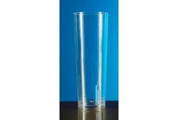 Caja de 500 Vasos tubo poliestireno transparentes 330 c.c.