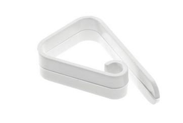 Paquete de 50 pinzas sujeta-mantel 55 mm. plástico blanco