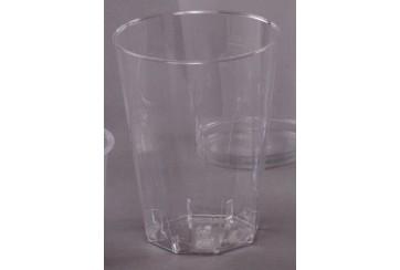 Caja de 600 Vasos plástico octogonales 25 cl.