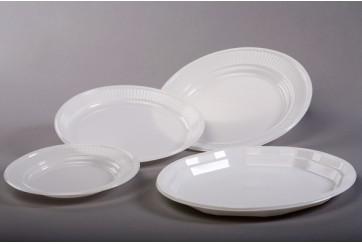 Caja de 1200 Platos plástico blancos 22 cms.