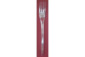 Caja de 600 Tenedores plástico tipo cristal 180 mm.