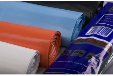 Rollo de 10 Sacos basura industrial 80x105 cms. GG.180 MD blanco