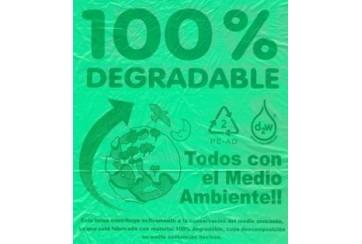 Rollo de 10 Sacos basura industrial 85x105 cms. GG120 verdes OXO