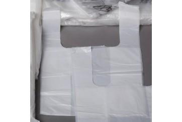 Paquete de 1 Kg. de Bolsas camiseta 40x50 cms. GG.90 blancas.